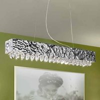 MAGMA hanging light  clear crystal  100x15cm