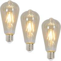 E27 rustic LED bulb 4 W 300 lumens 3 pack 2 200 K