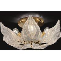 Exclusive glass ceiling light Foglie  six bulb