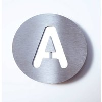Round stainless steel house number   A