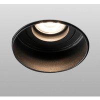 Hyde downlight 1 bulb round pivotable black