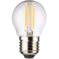 LED-Tropfenlampe E27 4,5W 2.700 K Filament klar