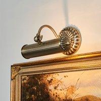 Image of Antik aussehende Bilderlampe Joely, altmessing