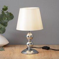 Bea chrome plated table lamp