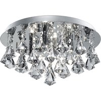 Hanna ceiling light  35 cm  chrome