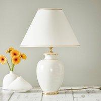 Giardino Craclee table lamp in white    40 cm