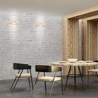 Kerio wall lamp  semi circular  natural pine