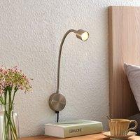 Lindby Djamila LED wall light  satin nickel