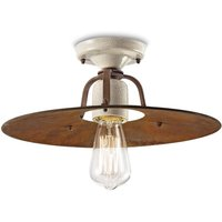Riccardo ceiling light with metal lampshade  40 cm