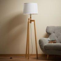 Montana tripod floor lamp with fabric lampshade