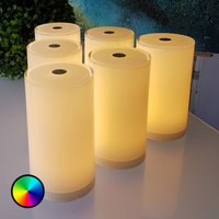 Tub table lamp  6 pack  app controllable  RGBW