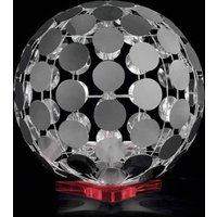 Sfera table lamp with red base  60 cm