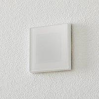 BEGA Accenta wall lamp angular ring white 160 lm