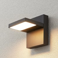 LED-Außenwandlampe Silvan, dunkelgrau