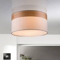 Semi flush ceiling lamp Libba  cream wood