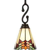 5965 hanging light in a Tiffany design  1 bulb