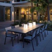 Bump 300 LED solar lantern portable  grey