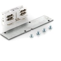 Eutrac longitudinal connector rcessed track  white