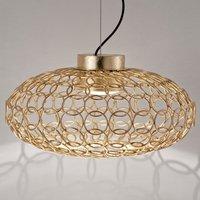 Terzani G R A    oval designer hanging light  gold