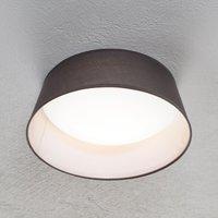 Ponts LED ceiling light  grey fabric lampshade
