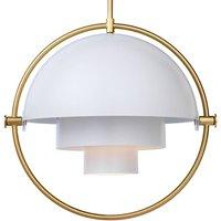 GUBI Multi Lite hanging lamp 32 cm brass white