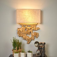 Delicately designed Peter fabric wall light