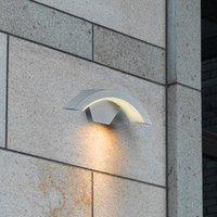 Ohio LED outdoor wall light  titanium colour