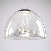 Axolight Mountain View hanging lamp clear chrome