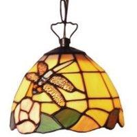 Decorative Tiffany style hanging light LIBELLE