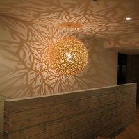 david trubridge Sola pendant light   80 cm natural