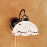 Rustic wall light Nonna  red and green