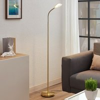 Ajenne LED reading light with flexible arm  brass