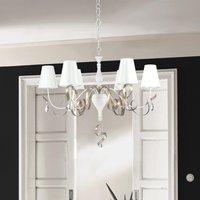 Intreccio chandelier  6 bulb  white