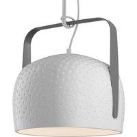 Karman Bag   white hanging light 32 cm  textured