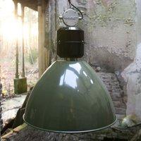 Olive green Frisk pendant light  industrial design