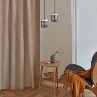 UMAGE Acorn hanging lamp 2 bulb smoky grey steel