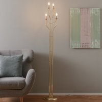 Four bulb floor lamp Retro with a gold finish