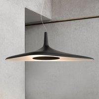 Futuristic LED pendant light Soleil Noir