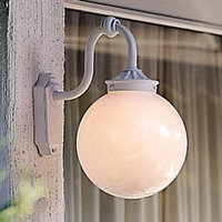 Arcturus outdoor wall light  spherical lampshade