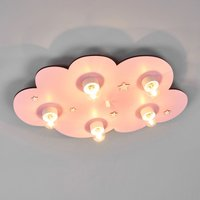 Dreamy pink Cloud children s ceiling light