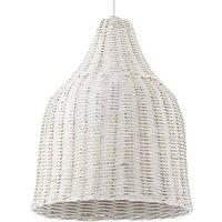 Haunt basket hanging light  white