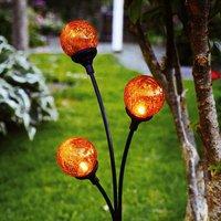 Trieste   solar decorative light with 3 spheres