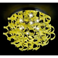 Bright ceiling light YELLOW 70 cm diameter