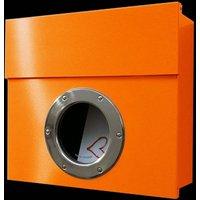 Letterman I designer letterbox  orange