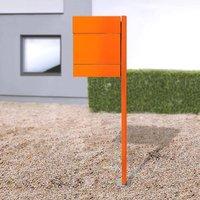 Letterman V letterbox newspaper slot   post orange