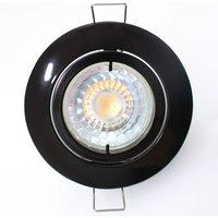 High-voltage Snok recessed light, black