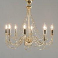 Retro chandelier  8 bulb  gold  75 cm suspension