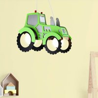 Tractor pendant light for a child s room