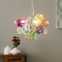 By Ryd ns Gross glass hanging lamp colourful 30 cm