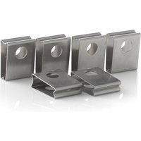 Eutrac spring clip for 3 circuit recessed track